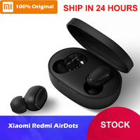 In Stock Xiaomi Redmi AirDots True Wireless Bluetooth 5.0 Earphones DSP Noise Cancellation Headset with Mic Earbuds TWSEJ04LS