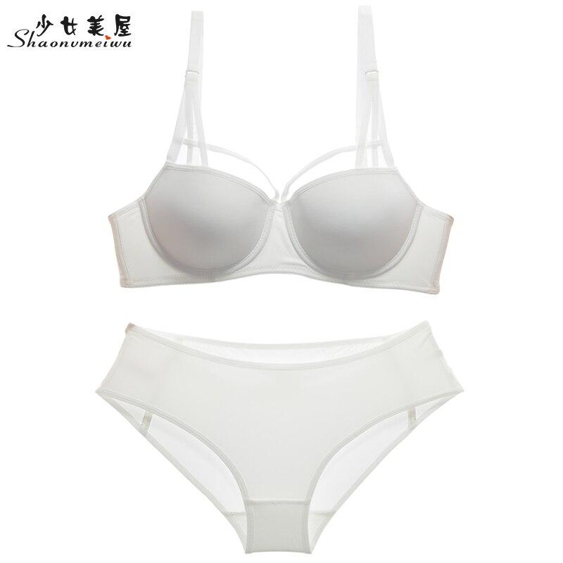 shaonvmeiwu Sexy slim take thin under the thick model cup sexy bra set bras gather women