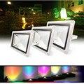 Светодиодный прожектор 10 Вт 20 Вт 30 Вт 50 Вт RGB/белый/<font><b>WW</b></font> водонепроницаемый многоцветный RF прожектор наружный непромокаемый светильник освещени...