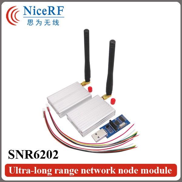 2pcs 470MHz TTL Interface Ultra-long Rrange Wireless RF Module SNR6202 +2pcs Rubber Antennas+2pcs TTL USB brigde board