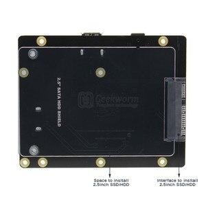 """Image 3 - Raspberry Pi 2.5 """"SATA HDD/SSD لوح تمديد التخزين ، X820 V3.0 USB 3.0 وحدة قرص صلب المحمول لتوت العليق Pi 3 نموذج B +/3B"""