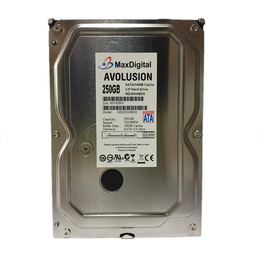 250GB HDD SATA 3.5 7200RPM 16MB Cache Enterprise Grade Security CCTV Hard Drive Warranty for 1-year 395501 002 601452 001 mb0500cbepq 500 gb 7 2k sata 3 5inch 1 year warranty