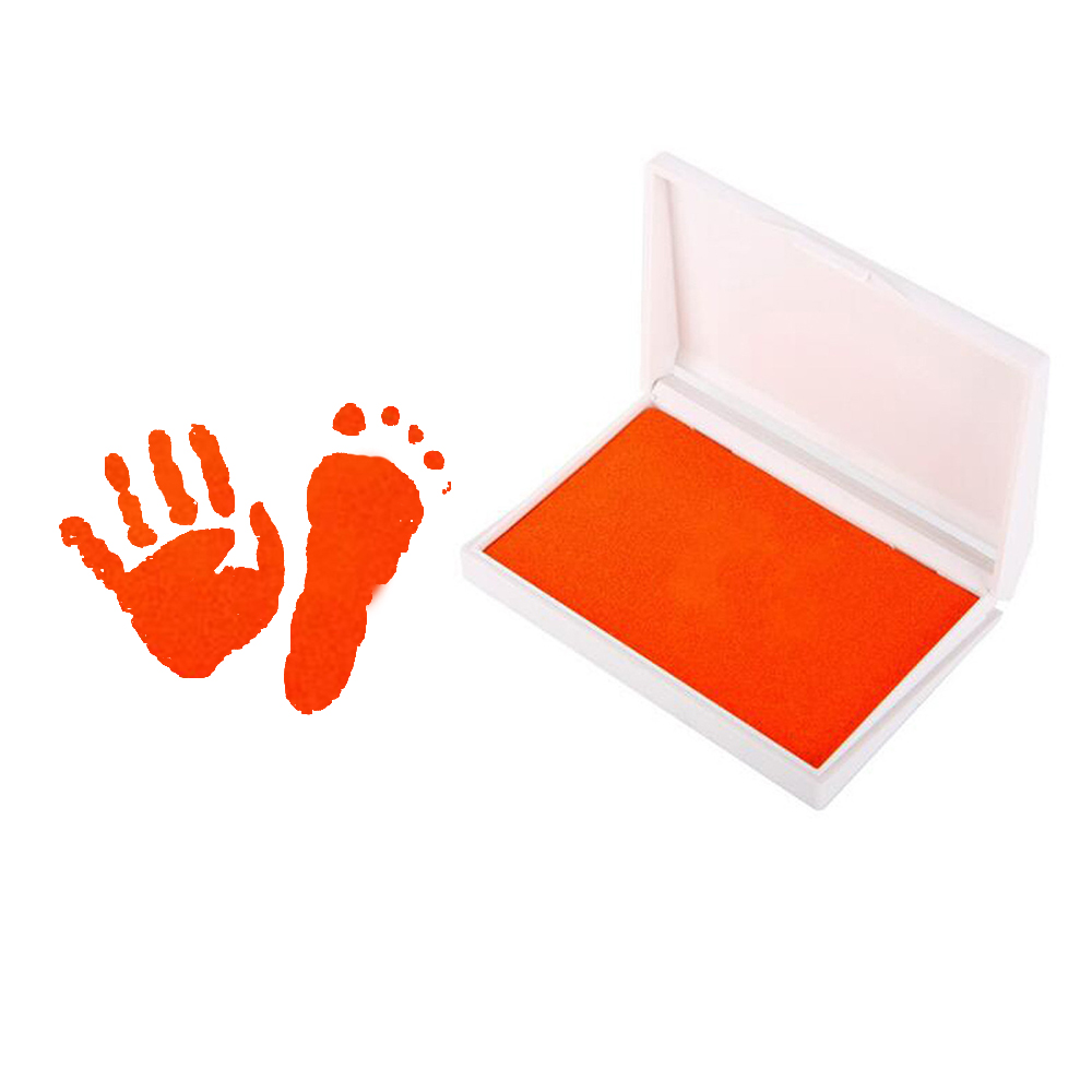 Baby Handprint Footprint Non-Toxic Newborn Kit Inkpad Baby Souvenirs Casting Ink Pad Infant Clay Toys Cute Gifts