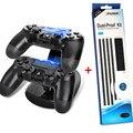 PS4 Pro DIY Пыленепроницаемый Пробка Пакет Пылезащитный Комплект + LED Двойной USB Зарядка для Док-Станции Стенд Зарядное Устройство Для Playstation 4 Pro P4P