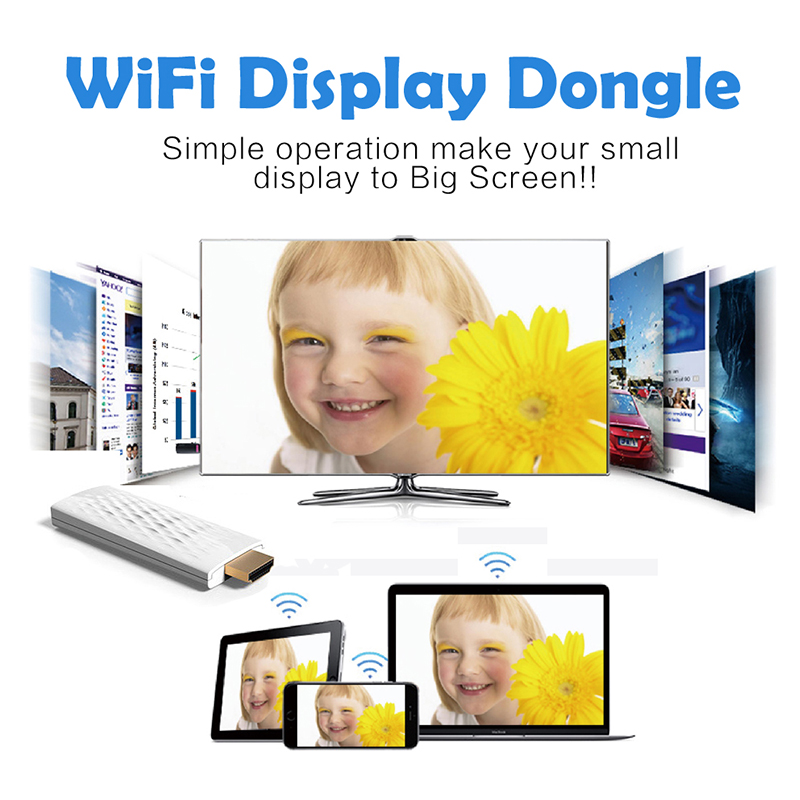 DOITOP Wireless WiFi Display Dongle Airplay Mirror Display 1080P HD HDMI TV Video Audio Adapter For iPad/iPhone/Macbook/Samsung ...