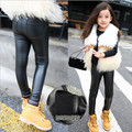 5 6 7 8 9 10 11 12 13 Years Girls Legency Autumn Winter Girls Lacina Teenagers Baby Girls Leather Pant Kids Teens Wear