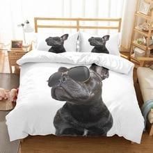 3D Printed Handsome Black Pug Dog with Sunglasses 3PCS(1 Duv
