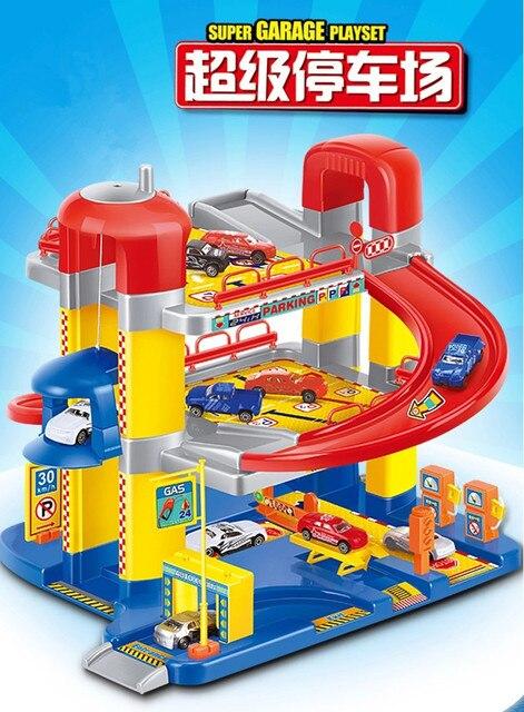 Hot Sale New Children Toy Car Railway Elevator Super Parking Lot Toy