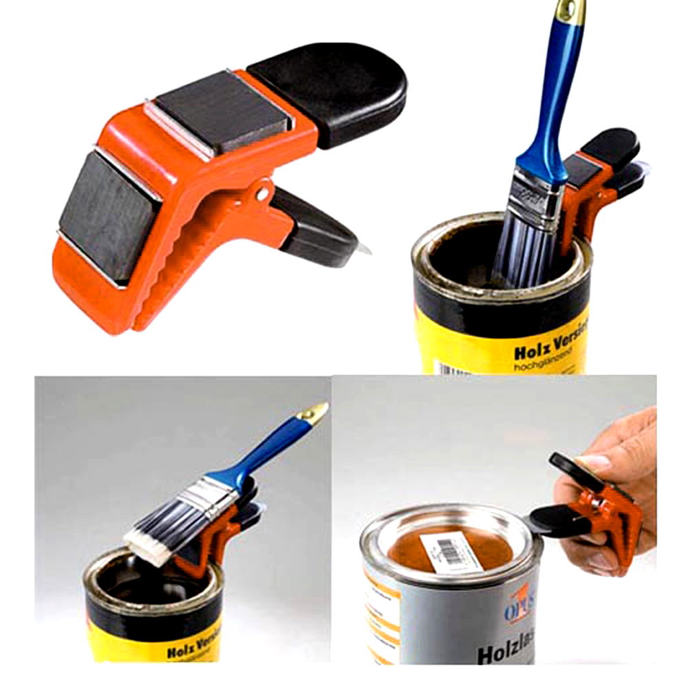Freeshipping  2PC magnet paint  brush holder   strong magnetic clip paint  tool hand tool