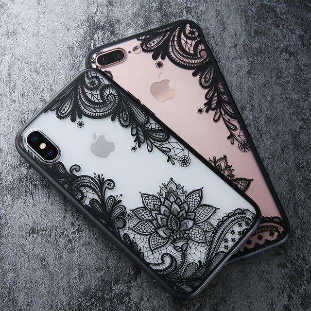 Luxury Flower Lace 3D TPU Case – Apple iPhone