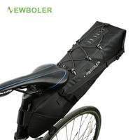 NEWBOLER Waterproof Bike Saddle Bag Large Bicycle Tail Seat Bags TPU Polyester Cycling Rear Panniers Bike