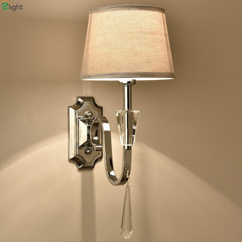 цена Modern Lustre Crystal Led Wall Lamp Chrome Metal Bedroom Led Wall Lights Fixtures Dining Room Wall Light Foyer Led Wall Sconce в интернет-магазинах
