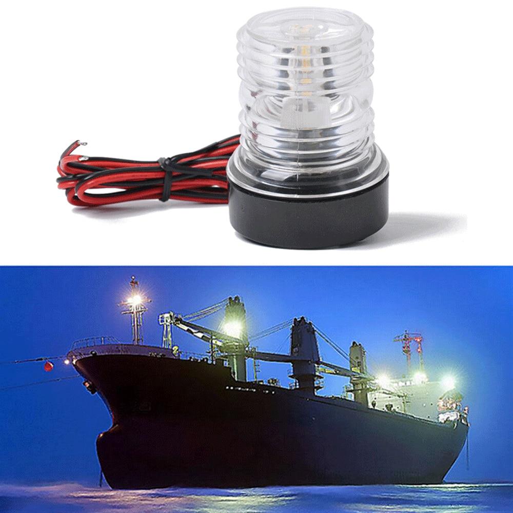 12V LED Marine Boat Yacht Warning Light 360° Lamp Navigation Light White Sailing Signal Light For Yacht Boat Stern Anchor Light