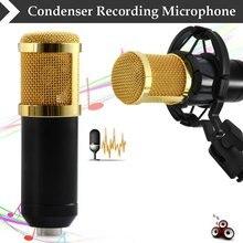 BM-800 Micrófono de Condensador Profesional de Grabación de Sonido de Alta Calidad con el Montaje de Choque para Radio Broadcasting Canto Negro