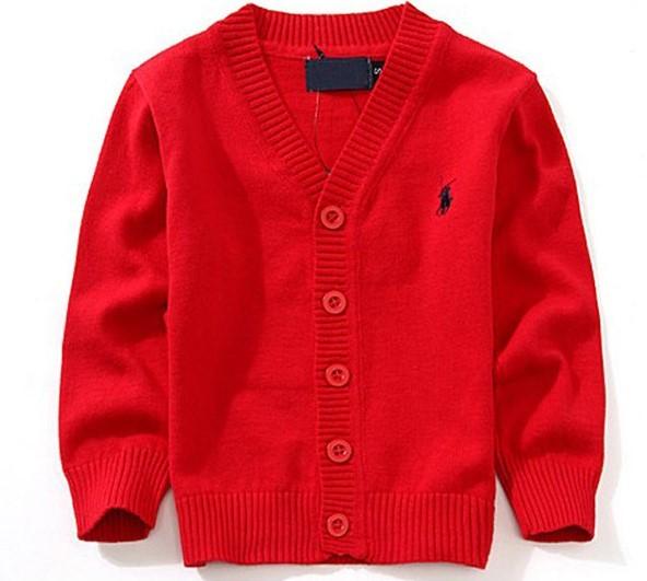 Nuevo 2017 Del Suéter Del Muchacho 100% algodón bebé suéter ropa de los niños Con Cuello En V suéteres niños suéter de invierno de Alta Calidad tire fille