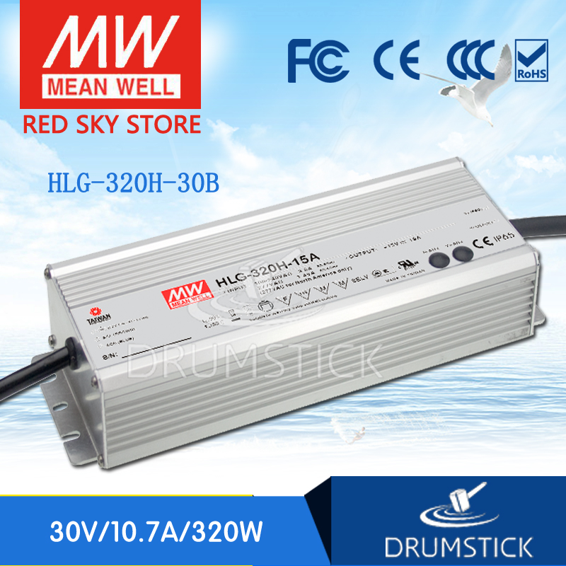 100% Original MEAN WELL HLG-320H-30B 30V 10.7A meanwell HLG-320H 30V 321W Single Output LED Driver Power Supply B type genuine mean well hlg 320h 54b 54v 5 95a meanwell hlg 320h 54v 321 3w single output led driver power supply b type