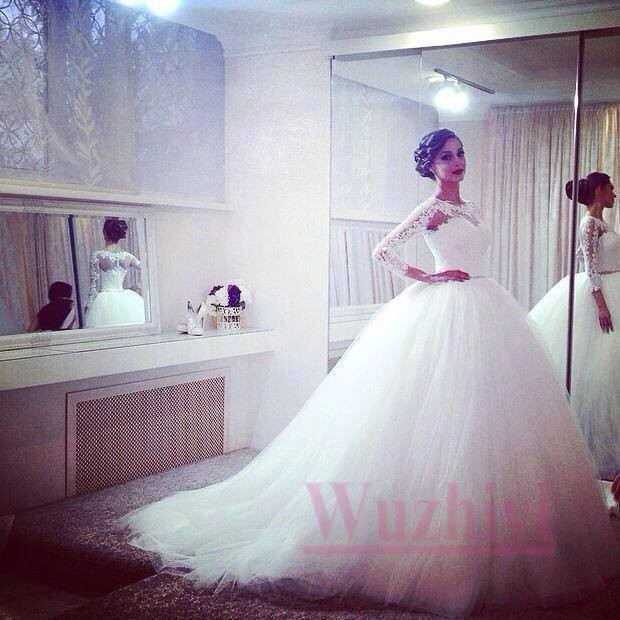 Big Tulle Ball Gown Wedding Dress Popular Wedding Dress 2017