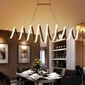 Креативная спиральная светодиодная люстра из алюминия и акрила для дома  столовой  спальни  офиса и коммерческого освещения  потолочные све...
