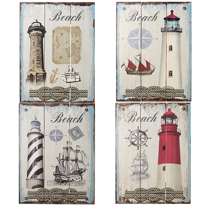 top selling vintage wood sign plaque cafe bar home bedroom store wall picture nautical lighthouse atr