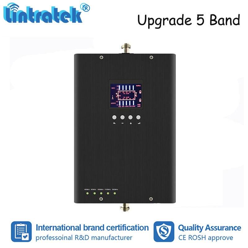 Lintratek 800 900 1800 2100 2600 MHz 5 bandes amplificateur de Signal de téléphone Mobile GSM W-CDMA UMTS LTE amplificateur de répéteur de Signal #4 + 2