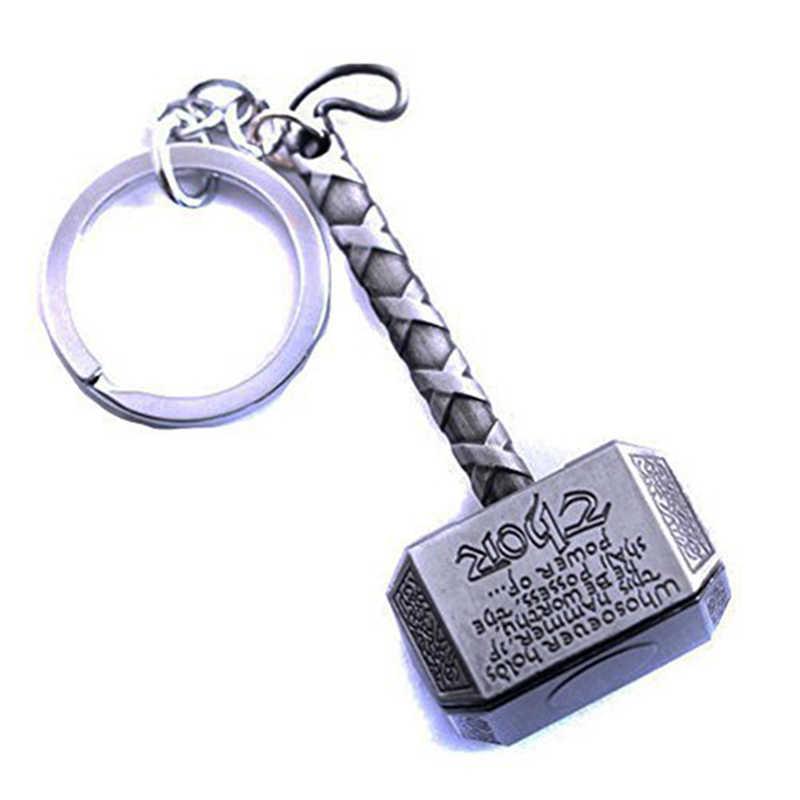 1 Novo Chaveiro Pewter Cadeia Homens Jóias Fãs Acessório do Anel Chave Chaveiro Toy Thor Marvel Avengers Thor Martelo mjolnir Keychain