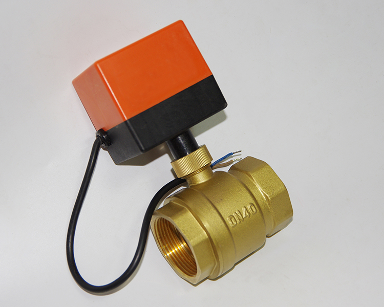 dn40 g1 5 ac220v electric actuator brass ball valve