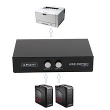 2 порта USB2.0 распределительное устройство переключатель адаптер Коробка для ПК Сканер Принтер