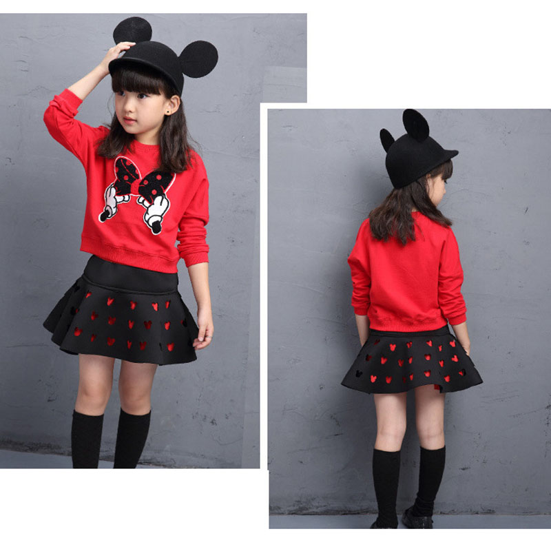 168cc25c0cb Kids Girls Clothes 2016 Brands Minnie Toddler Girls Clothing Sets Back To  School Outfit Girls Skirt Set Autumn Winter 4 12 Years-in Clothing Sets  from ...