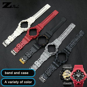 Image 3 - Silicone braccialetto di gomma per casio g shock GD GLS GA 100 110 120 Watch Band Convesso Della Cinghia del cinturino e cassa di Gomma cinturino di vigilanza