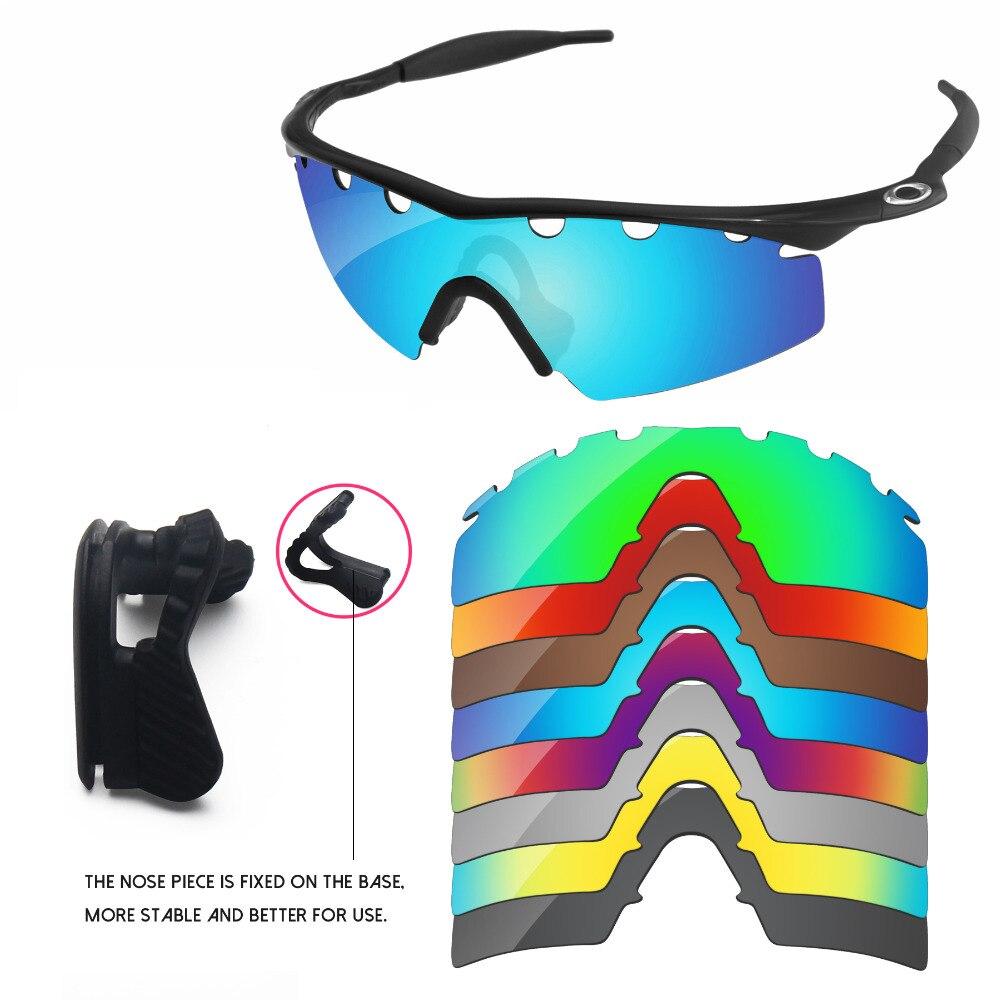 PapaViva Remplacement Lentilles et Noir Nez Pads pour Authentique M Cadre Grève Ventilé lunettes de Soleil Cadre-Multiples Options