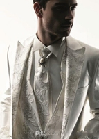 Latest Coat Pant Designs White Ivory Lace Applique Blazer Mens Wedding Prom Suit Jackets Custom Made