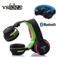 цена на Collapsible Wireless Headphones super bass Surround stereo Noise Cancelling Over Ear Bluetooth Earphones with MIC for all phone