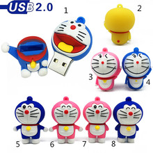 creative Memory stick 128gb Robot cat doraemon usb flash drive 64gb 32gb 16gb pen 8gb 4gb pendrives cute cartoon 2.0