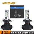Auxmart H4 HB2 9003 Kits 50 w/set LEVOU Farol Feixe Alto e Farol Baixo Mergulhado feixe de csp chips auto head lamp para toyota ford vw honda audi