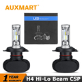 Auxmart H4 HB2 9003 LED Headlight Kits 50w/set High Beam Low Dipped Beam CSP Chips Auto Head Lamp For Toyota Ford VW Honda Audi