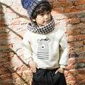 Meninos Sweatershirt Outono Pullover Camisola Morna do Inverno das Crianças Dos Miúdos Dos Desenhos Animados Urso Estilo Coreano Grosso Tops para Meninas e Meninos