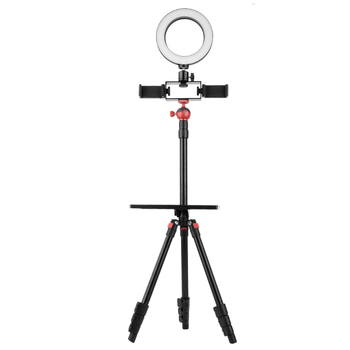 tiktok Q3 Photo Studio with Aluminum Light Stand & ring light for phone broadcast live stand tripod and LED ring lamp