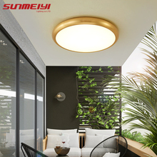 Copper LED Ceiling Lights 3 Color Temperatures Ceiling Lighting Living room Bedroom tavan aydinlatma Modern Corridor Lamp стоимость
