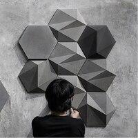3D geometric concrete wall brick silicone mold cement TV background wall brick mold hexagon plaster mold