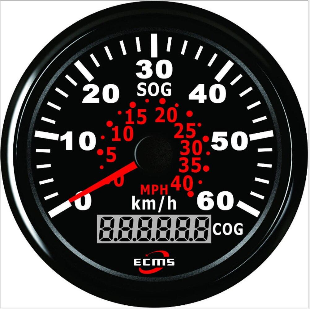 ECM 0 40MPH 0 60 キロ/H 85 ミリメートルユニバーサル GPS スピードメーターゲージ走行距離について ATV UTV オートバイマリンボートバギー  グループ上の 自動車 &バイク からの 楽器 の中 1