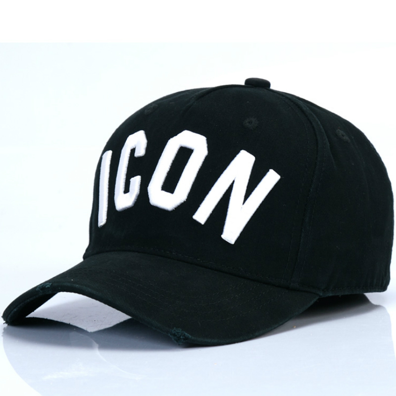 DSQICOND2 High Quality Brand DSQ Casquette Hat Solid Pattern Cap Letters Printed ICON Baseball Caps Snapback Cap for Man Woman quality creative 3d muscle man pattern printed apron