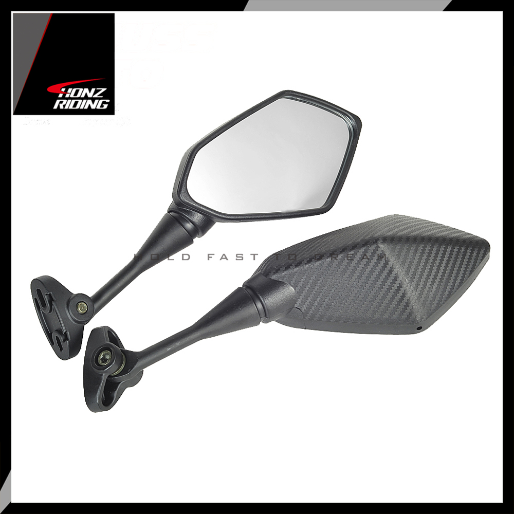 For Yamaha YZF R1 R6 R25 R15 R125 R3 R1S R1M FZ6R Mirrors Motorcycle Scooter Rear View Mirror Carbon Look