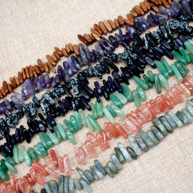 Free shipping 5*12chips nature stone loose beads for make necklace bracelet jewerly  DIY gold/ blue sand stone