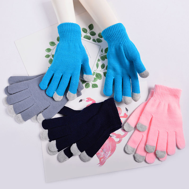 Unisex Blue One size 3-in-1 Knit Magic Gloves