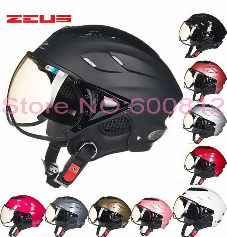 Classic retro ZEUS half face Motorcycle helmet summer motorbike / electric bicycle helmets UV made of ABS ZS-125B of FREE SIZE 2017 new dutch beon retro style half face motorcycle helmet b 110b electric bicycle motorbike helmets for men women made of abs