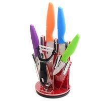 Kitchen Knife Stand Block 3 4 5 6 Ceramic Knife Set 4 Colors Kitchen Knife White