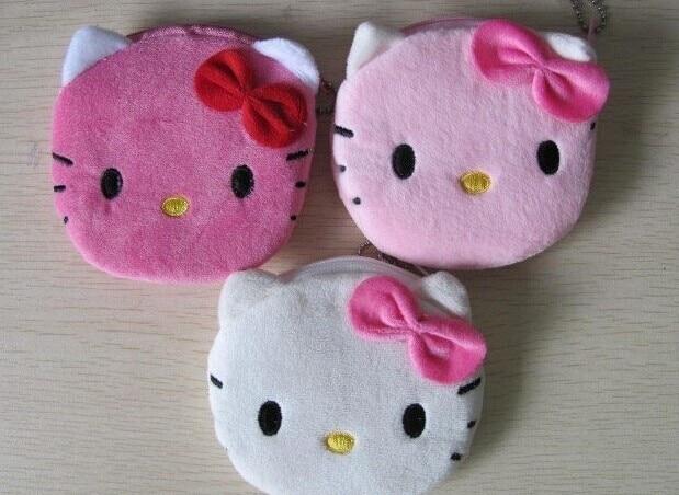 3Colors For Choice - Super Kawaii 10CM Hello Kitty Lady's Coin Purse & Wallet Pouch Case BAG ; Makeup BAG Pouch Women Handbag
