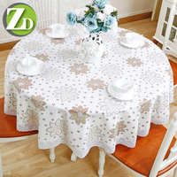 1.8x1.8m Round PVC Tablecloth For Wedding Hotel Party Decor Waterproof Table Cloth Imitation Fabric Dining Round Table Cover