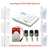 3G GSM Alarm System Home Burglar Alarm Touch Screen Wireless Alarm System Mini Siren PIR Motion