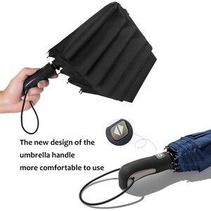Image 5 - TOPX nowy duże silne moda Windproof parasol mężczyźni delikatne 3Fold kompaktowy w pełni automatyczny deszcz wysokiej jakości Pongee parasol kobiety
